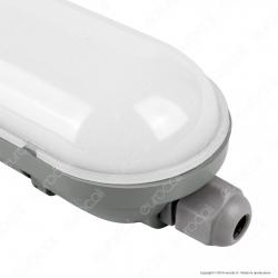 V-Tac VT-6048 Tubo LED Plafoniera 18W Lampadina 60cm Impermeabile - SKU 6198 / 6199