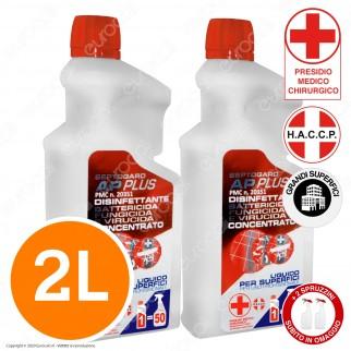 Septogard AP Plus Detergente Disinfettante Professionale Concentrato Attivo Contro Virus Batteri e Funghi - 2 Litri