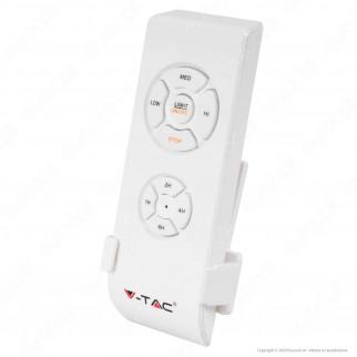 V-Tac VT-6053-5 Ventilatore da Soffitto 60W con Portalampada per Lampadine LED E27 e Telecomando - SKU 7916