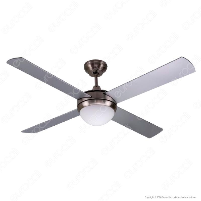 Luce LED Vetro Lampada Soffitto Ventilatore Radiatore ventola diametro 105 cm e27