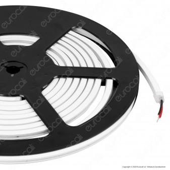 V-Tac VT-560 LED Neon Flex StripLight 8W/m 24V IP65 CRI≥90 Bianco - Bobina da 5 metri - SKU 2619 / 2620 / 2621