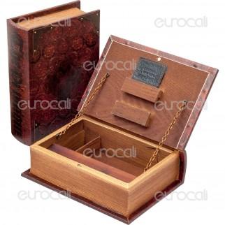 Spliff Box Stazione di Rollaggio in Legno - Mini Libro Antico