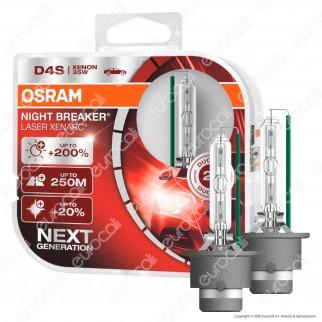 Osram Night Breaker Laser Xenarc Fari Xeno 35W - 2 Lampadine D4S