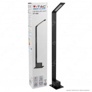 V-Tac VT-896 Lampada LED da Giardino 7W in Alluminio con Fissaggio a Terra IP54 Lampione 805mm - SKU 8682