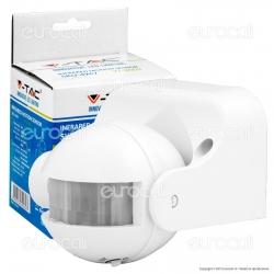 V-Tac VT-8003 Sensore di Movimento a Infrarossi per Lampadine - SKU 4967