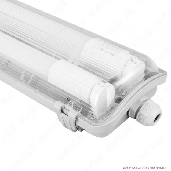 V-Tac VT-15022 Tubo LED Plafoniera 2x22W Lampadina 150cm Impermeabile - SKU 6388 / 6400
