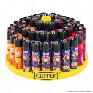 Clipper Large Fantasia Hippie Motive 1 - Box da 48 Accendini