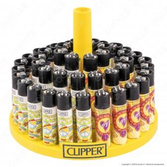Clipper Large Fantasia Hippie Motive - Box da 48 Accendini