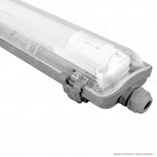 V-Tac PRO VT-12028 Plafoniera Singola con Tubo LED T8 G13 18W Lampadina 120cm - SKU 6459 / 6460
