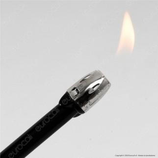 Atomic Chimney BBQ Accendigas Multiuso Maxi Elettronico Ricaricabile Colore Argento - Accendino Singolo