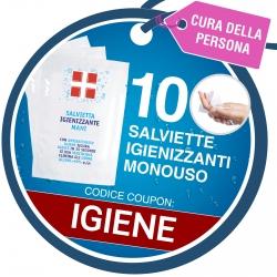 10 Salviette Monouso Disinfettanti Igienizzanti Mani con Antibatterico Omaggio - Coupon IGIENE