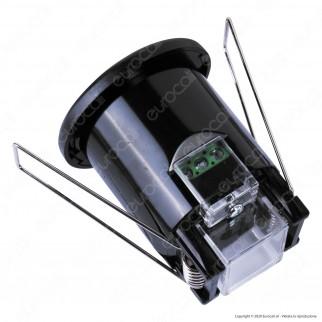 V-Tac VT-8092 Sensore di Movimento a Infrarossi PIR per Lampadine LED da Incasso Colore Nero - SKU 6609