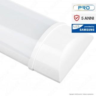 V-Tac VT-8-40 Tubo LED Prismatico Plafoniera 40W Lampadina 120cm Chip Samsung - SKU 665 / 666 / 667