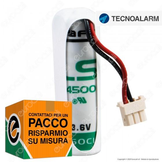 Saft Batteria Al Litio 3,6V LS 14500 Stilo AA con Connettore Compatibile Antifurto Tecnoalarm - Batteria Singola