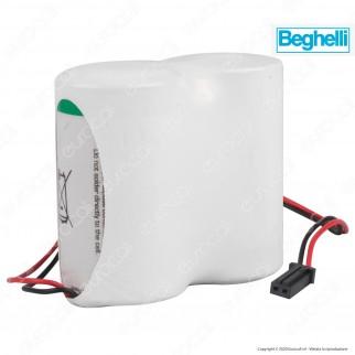 Saft Batteria Al Litio 7,2V 2LSH 20 ER-D Torcia D con Connettore Compatibile Antifurto Beghelli - Batteria Singola