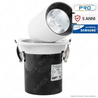 V-Tac PRO VT-419 Faretto LED COB 18W 24° da Incasso Rotondo Estraibile Orientabile CRI≥90 - SKU 20049
