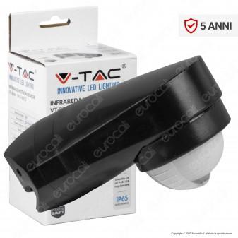 V-Tac VT-8094 Sensore di Movimento a Infrarossi IP65 per Lampadine LED Colore Nero - SKU 6612