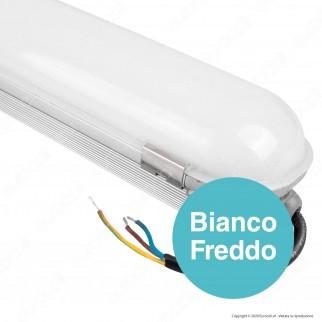 V-Tac VT-160 Tubo LED Plafoniera 60W Lampadina 120cm Impermeabile con Chip Samsung - SKU 678 / 679