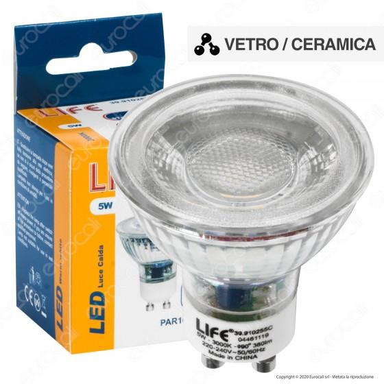 Life Lampadina LED GU10 5W Faretto Spotlight 38° in Vetro e Ceramica - 39.910255C
