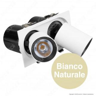 V-Tac PRO VT-436 Faretto LED COB 36W 24° Doppio da Incasso Estraibile Orientabile CRI≥90 - SKU 20050