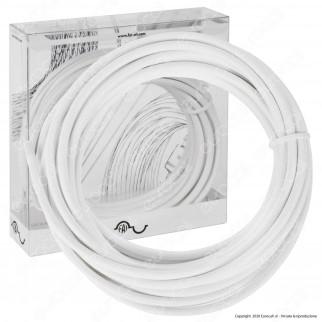 FAI Cavo di Collegamento Elettrico in Corda per Lampade di Design Colore Bianco - mod. 8900/10/2075/BIA