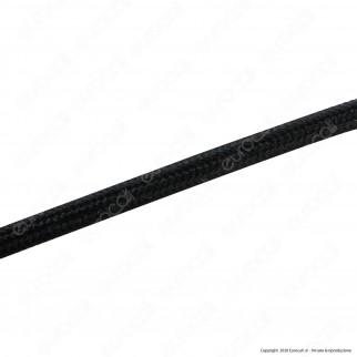 FAI Cavo di Collegamento Elettrico in Corda per Lampade di Design Colore Nero - mod. 8900/10/2075/NER