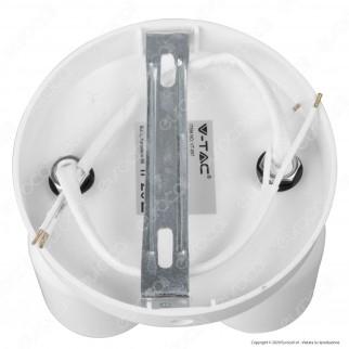 V-Tac VT-897 Portafaretto Rotondo per 2 Faretti LED Spotlight GU10 con 2 Testine Orientabili - SKU 7981