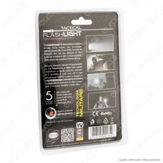Intergross Tactical Flashlight Torcia LED Professionale in Alluminio Impermeabile con Zoom Integrato - mod. IGZ56