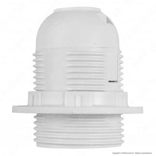 V-Tac Portalampada Termoplastico Colore Bianco per Lampadine E27 - SKU 8839