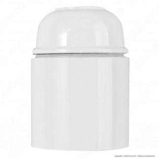V-Tac Portalampada in Bakelite Colore Bianco per Lampadine E27 - SKU 8752