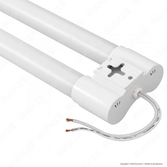 V-Tac VT-6077 Tubo LED Doppio Nano Plastic Plafoniera 18W Lampadina 60cm - SKU 6313 / 6314