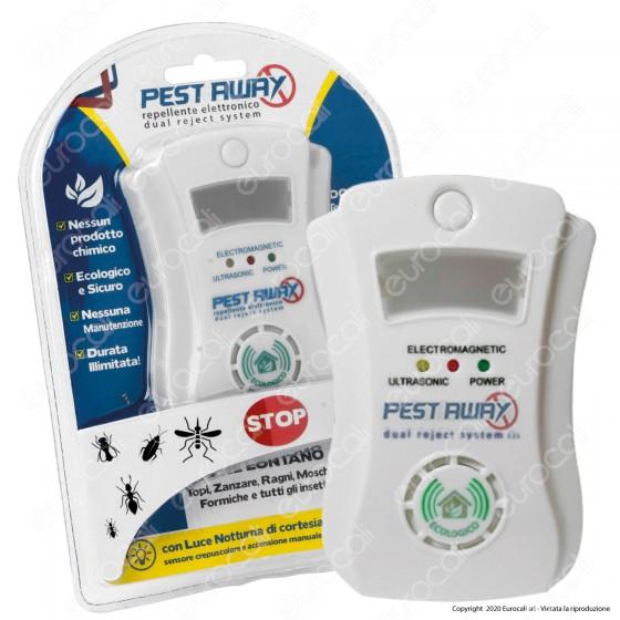 Intergross Pest Away Repellente Elettronico per Insetti e Roditori con Elettromagnetismo ed Ultrasuoni