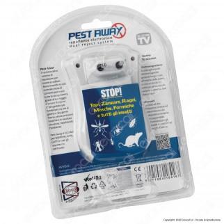 Kit 2 Intergross Pest Away Repellente Elettronico per Insetti e Roditori con Elettromagnetismo ed Ultrasuoni