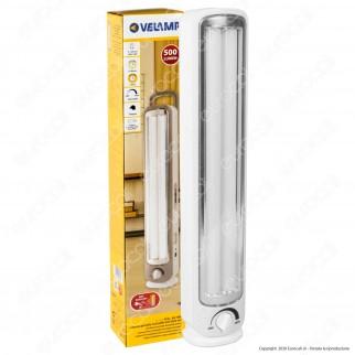 Velamp Lampada LED 24W Portatile con Luce di Emergenza Anti Black Out a Batteria Ricaricabile - mod. IR163