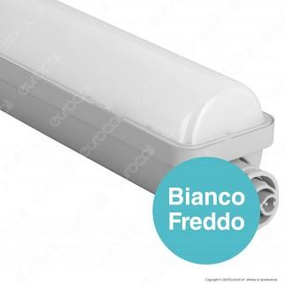 Wiva Tubo LED Plafoniera 30W mod. Niagara Lampadina 120cm Impermeabile - mod. 51200033 / 51200034