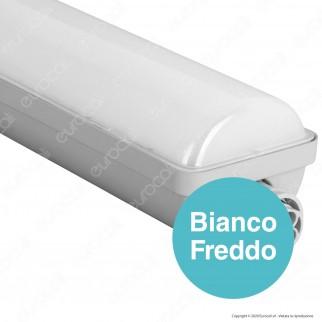 Wiva Tubo LED Plafoniera 38W mod. Niagara Lampadina 120cm Impermeabile - mod. 51200035 / 51200036