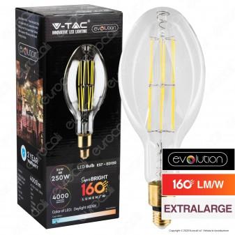 V-Tac Evolution VT-2324 Lampadina LED Filament E27 24W Bulb ED120 Extralarge - SKU 2816 / 2817
