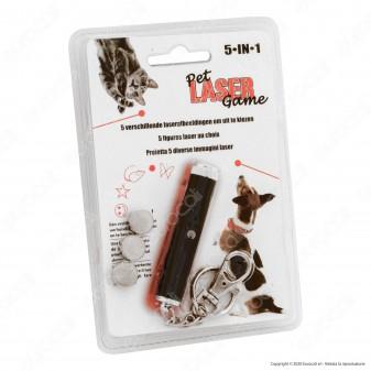 Intergross Pet Laser Game Puntatore Luce Rossa a Batterie con 5 Figure Proiettabili - mod. IG102