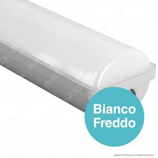 Qtech Tubo LED Nilo Plafoniera 62W Lampadina 150cm Impermeabile IP65 - mod. 70010033 / 70010034