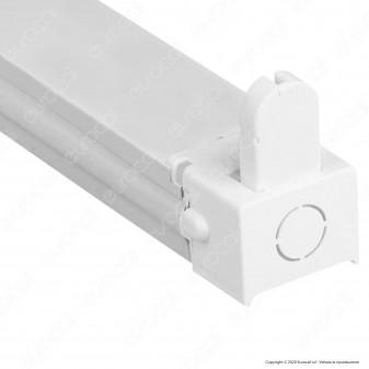 V-Tac VT-16010 Plafoniera Singola per Tubi LED T8 da 60cm - SKU 6052