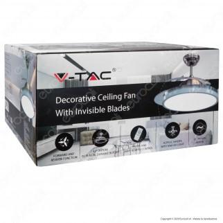 V-Tac VT-3042-3 Ventilatore da Soffitto 35W con Lampada LED 30W 3in1 Changing Color e Telecomando - SKU 7929