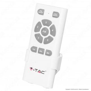 V-Tac VT-6055-3 Ventilatore da Soffitto 35W con Lampada LED 15W 3in1 Changing Color e Telecomando - SKU 7919