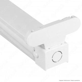 V-Tac VT-16011 Plafoniera Doppia per Tubi LED T8 da 60cm - SKU 6053