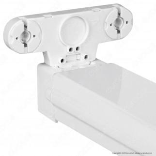V-Tac VT-12021 Plafoniera Doppia per Tubi LED T8 da 120cm - SKU 6055