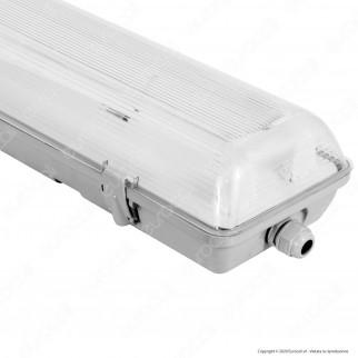 Life Plafoniera Doppia Impermeabile per 2 Tubi LED T8 da 60cm - mod. 39.PFL0206