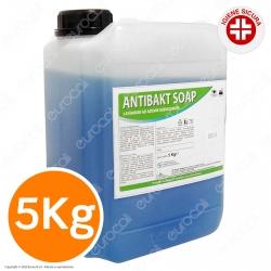 Antibakt Soap Detergente Professionale Sapone Liquido Alcolico Sanificante Igienizzante Mani - Tanica da 5Kg