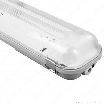 Imperia Plafoniera Doppia Impermeabile per 2 Tubi LED T8 da 120cm - mod. 6011737