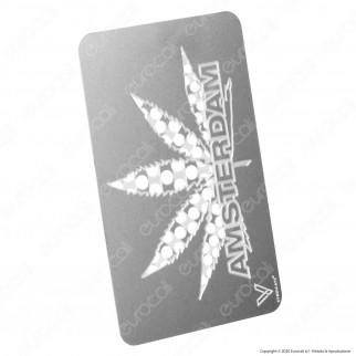 Grinder Card Formato Tessera Tritatabacco in Metallo - Amsterdam Leaf
