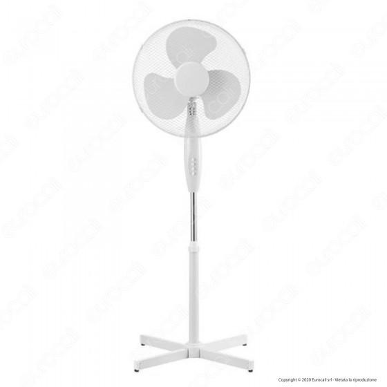 V-Tac VT-4016-3 Ventilatore a Piantana 40W 3 Pale in Plastica Colore Bianco Altezza 1200mm - SKU 7922
