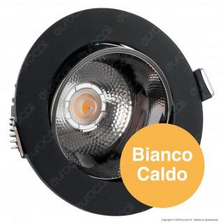 V-Tac PRO VT-2-13 Faretto LED COB 10W da Incasso Rotondo Nero Chip Samsung - SKU 20051 / 20052 / 20053